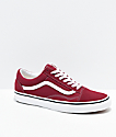 Vans Old Skool Rumba Red & White Skate Shoes