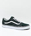 Vans Old Skool Scarab Green & White Skate Shoes