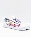 Vans Old Skool Sparkle Flame Rainbow Skate Shoes