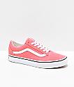 Vans Old Skool Strawberry Pink & White Skate Shoes