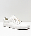 Vans Old Skool Studs Sidewall White Skate Shoes
