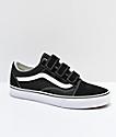 Vans Old Skool V Black & White Skate Shoes