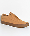 Vans Old Skool Vansbuck Gum Mono Skate Shoes