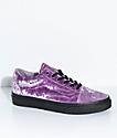 Vans Old Skool Velvet Sea Fog & Black Skate Shoes