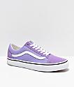 Vans Old Skool Violet & White Skate Shoes
