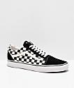 Vans Old Skool zapatos de skate a cuadros en blanco y negro