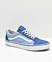 Vans Old Skool zapatos de skate azules con ojales iridiscentes