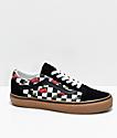 Vans Old Skool zapatos de skate de cerezas a cuadros negros