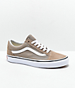 Vans Old Skool zapatos de skate de color beige topo