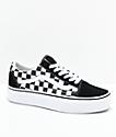 Vans Old Skool zapatos de skate de plataforma a cuadros en negro y blanco