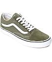 Vans Old Skool zapatos de skate en blanco y verde musgo