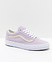 Vans Old Skool zapatos de skate en color orquídea y blanco
