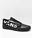 Vans Old Skool zapatos de skate en negro con logotipo blanco