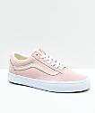 Vans Old Skool zapatos de skate en rosa claro y blanco