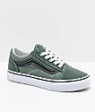 Vans Old Skool zapatos de skate en verde y negro