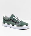 Vans Old Skool zapatos en verde y negro para niños