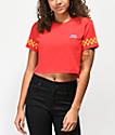 Vans Pit Crew Red Crop T-Shirt