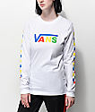 Vans Primary Checkerboard camiseta blanca de manga larga