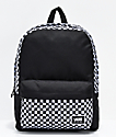 Vans Realm Classic DIY Checkerboard Black & White Backpack