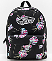 Vans Realm Floral Paradise Black Backpack