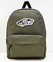 Vans Realm Grape Leaf Green Backpack