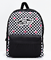 Vans Realm Rose Checkerboard Backpack