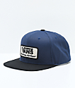 Vans Rowley Dress Blue & Black Snapback Hat