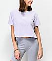 Vans Side Split Lavender Crop T-Shirt