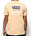 Vans Side Stripe camiseta en color albaricoque