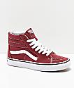 Vans Sk8-Hi Apple Butter zapatos de skate en rojo