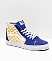 Vans Sk8-Hi BMX Checkerboard Blue & Yellow Skate Shoes