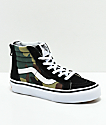 Vans Sk8-Hi Black & Woodland Camo & Black Shoes