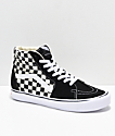 Vans Sk8-Hi Black & White Checkerboard Shoes