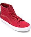Vans Sk8-Hi Chili Red & White Skate Shoes