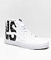 Vans Sk8-Hi Classic Tumble White Shoes