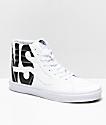 Vans Sk8-Hi Classic Tumble zapatos blancos