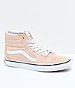 Vans Sk8-Hi Frappe & True White Suede Shoes