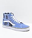Vans Sk8-Hi Logo Mix zapatos de skate en morado y blanco