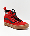 Vans Sk8-Hi MTE Checkerboard & Red Shoes