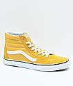 Vans Sk8-Hi Ochre & White Skate Shoes
