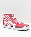 Vans Sk8-Hi Pro Desert Rose Checkerboard Skate Shoes