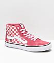 Vans Sk8-Hi Pro Desert Rose zapatos de skate a cuadros