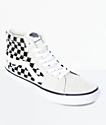 Vans Sk8-Hi Pro zapatos de skate a cuadros en blanco y negro