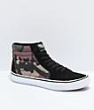 Vans Sk8-Hi Pro zapatos de skate en negro, blanco y camuflaje