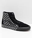 Vans Sk8-Hi Reissue Black & Pewter Checkered Skate Shoes