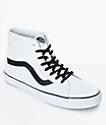 Vans Sk8-Hi Reissue zapatos de skate en blanco y negro