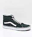 Vans Sk8-Hi Scarab Green & White Skate Shoes