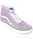 Vans Sk8-Hi Sea Fog & True White Skate Shoes