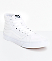 Vans Sk8-Hi Slim True White Skate Shoes