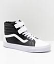 Vans Sk8-Hi Tumble Reissue V zapatos de skate en blanco y negro